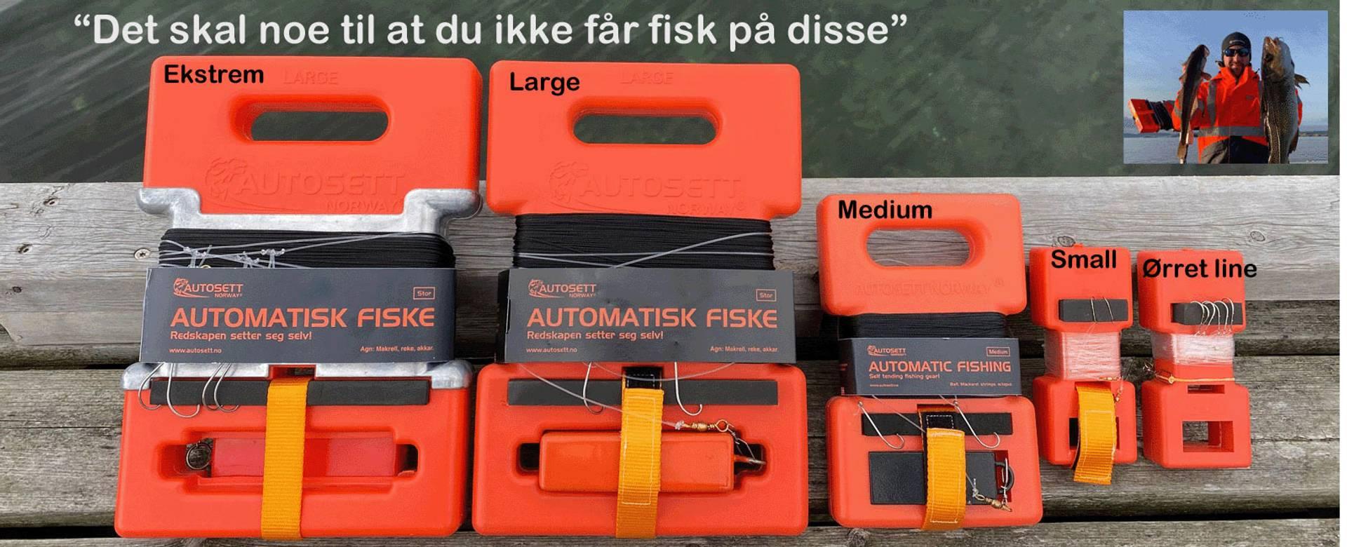 Autosett sniksnøre fiskeutstyr